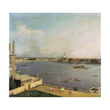London  Thames and City as Seen from the Richmond House  1746-1747