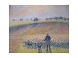 Shepherd with Sheep (Berger Avec Moutons)  1888