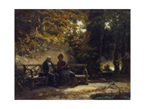 Sitting Couple on a Bench (Resting Promenaders)  1860
