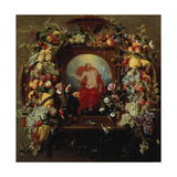 Flower and Fruit Garlands and the Ascension  1630-40