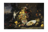 Still Life with Fruits and Monkeys