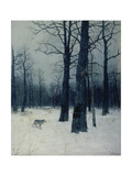 A Wolf in a Forest in Winter  1885