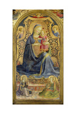 Virgin and Child Enthroned Surrounded by Angels