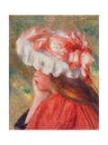 Young Girl with Red Hat  1890