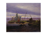 Boats in Harbour at Evening  1828