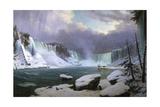 Panorama of the Niagara Falls in Winter  1857