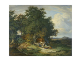 Autumnal Forest with Herders  1837