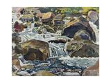 Mountain Stream Near Champéry  1916