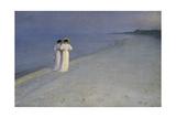 Summer Evening at Skagen (Anna Ancher and Marie Kroyer on the Beach at Skagen)  1893