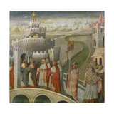 The Procession of St Gregory at the Mausoleum of Hadrian (Castel Sant'Angelo) in Rome