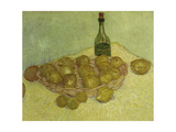 Still-Life with Bottle  Lemons and Oranges  1888