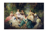 Empress Eugenie (1826-1920) Surrounded by Her Ladies-In-Waiting  1855
