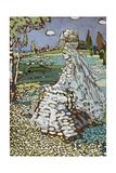 Russische Schoene in Landschaft  Um 1904