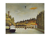 View of the Bridge at Sevres and the Hills at Clamart  St  Cloud  1908