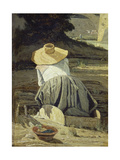 Washerwoman by the River  1860