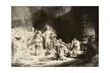 Christ Healing the Sick  'The Hundred Guilder Print'  C 1649