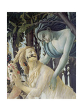 """Detail from the Painting """"Primavera"""": Zephyr and the Nymph Chloris"""