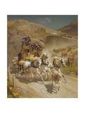 The Gotthard Pass Post Coach  1873