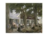 Beer Garden in Brannenburg  1896