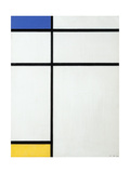 Composition Blue  Yellow and White  1936