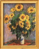 Tournesols Art texturé encadré par Claude Monet