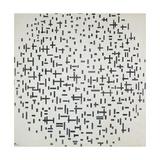 Komposition Mit Linien, 1916 Reproduction d'art par Piet Mondrian