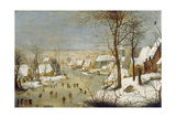 Winter Landscape with Ice-Skaters  after 1565