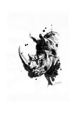 Inked Rhino Reproduction d'art par James Grey