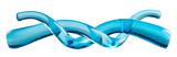 Double Helix Sculpture - Blue