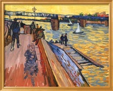 The Bridge at Trinquetaille Art texturé encadré par Vincent Van Gogh