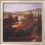 Villa in Tuscany Art texturé encadré par Max Hayslette