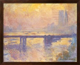 Charing Cross Bridge, c.1905 Art texturé encadré par Claude Monet