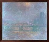Charing Cross La Tamise Art texturé encadré par Claude Monet