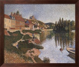 Riverbank Art texturé encadré par Paul Signac
