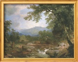 Monument Mountrains Art texturé encadré par Asher Brown Durand