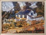 Maison à Auvers Art texturé encadré par Vincent Van Gogh