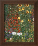 Farm Garden with Sunflowers  c1912