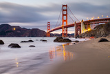 Sunset at Marshall Beach  Golden Gate Bridge  San Francisco California