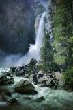 Misty Lower Yosemite Falls  California