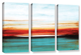 Jolina Anthony's Sunset  3 Piece Gallery-Wrapped Canvas Set
