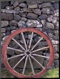 Rural Stone Wall and Wheel  Kilmuir  Isle of Skye  Scotland