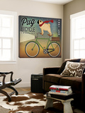 Pug on a Bike Toile Murale Géante par Ryan Fowler