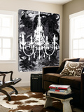 Chandelier Black and White Toile Murale Géante par Kent Youngstrom