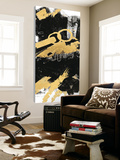 Gold Black Abstract Panel II Toile Murale Géante par Mike Schick