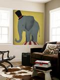 Eléphant de cirque Toile Murale Géante par Ryan Fowler