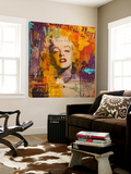 Marilyn 3 Toile Murale Géante par Micha
