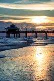 Fishing Pier Fort Myers Beach at Sunset Papier Photo par Philippe Hugonnard