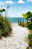 Boardwalk on the Beach - Miami - Florida Papier Photo par Philippe Hugonnard