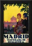Madrid  Spain - Madrid in Springtime Travel Promotional Poster