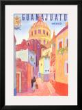 Poster for Guanajuato  Mexico  Colonial Streets